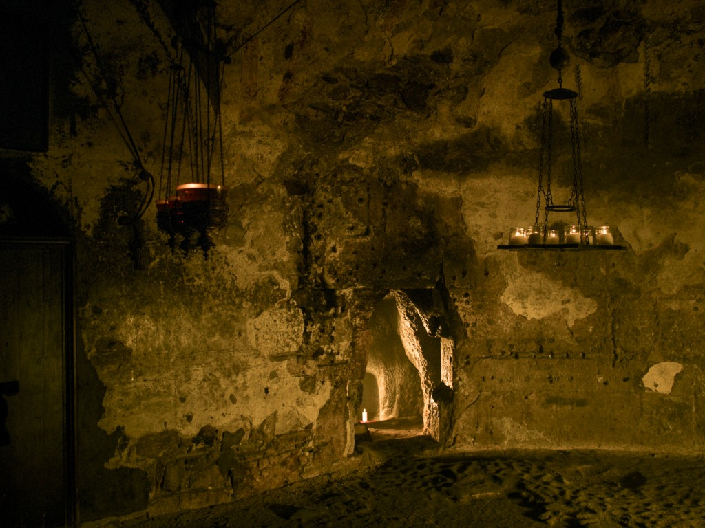 Behind a wall inside the Church of the Holy Sepulchre are ancient rock-cut tombs that have been dated to the 1st Century CE (AD). They are often cited as one of the reasons archaeologists consider the Church of the Holy Sepulchre to be the most likely site of the burial of Jesus.