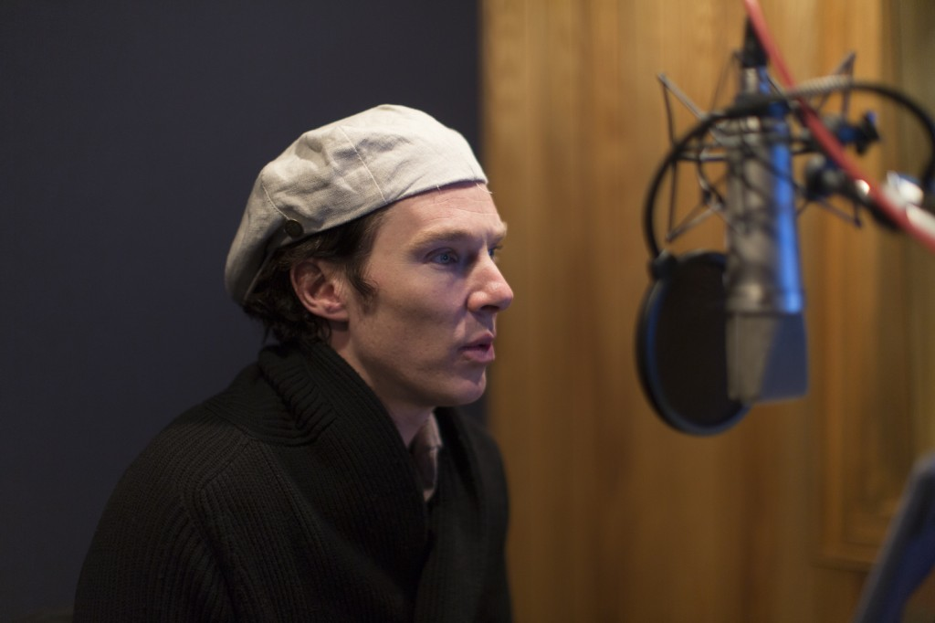 Actor Benedict Cumberbatch in action narrating JERUSALEM.